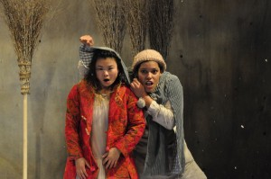 Mei Mac (left) as the Snow Child with Paula James